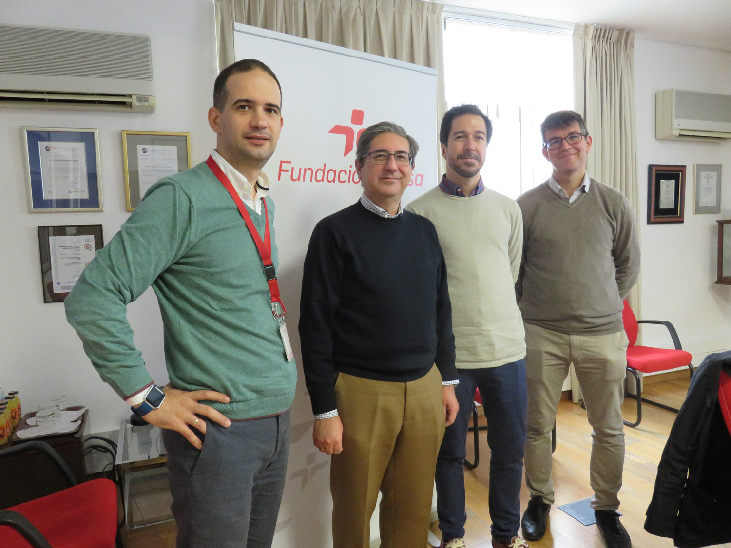 Professors from the University of Seville with representatives of Fundación Cepsa